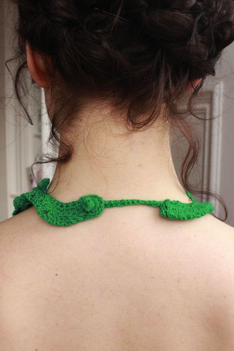 Fern knot tie clasp