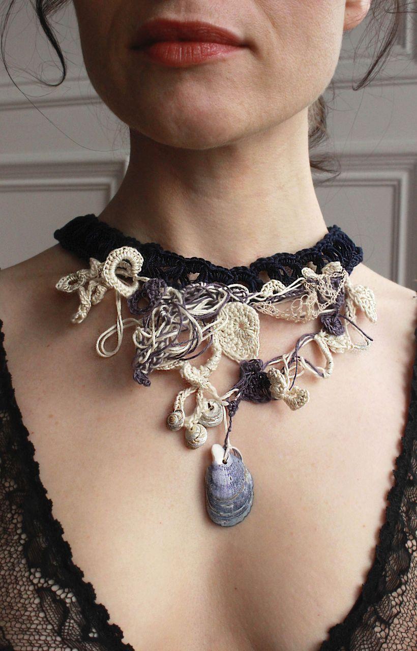 Silk Shell Collar 4