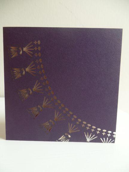 Amethyst Crochet Collar Diagram Laser Cut