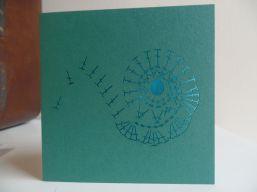 Teal Spiral Crochet Diagram Laser Cut